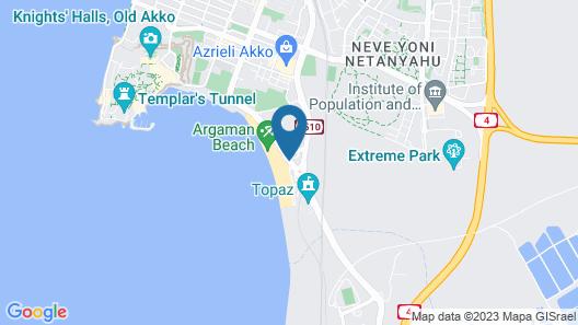 Acco Beach Hotel Map