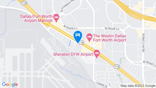 Super 8 by Wyndham Irving/DFW Apt/North Map