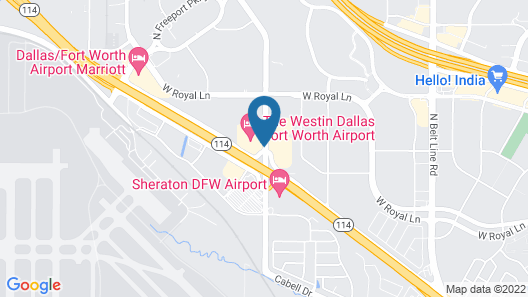 The Westin Dallas Fort Worth Airport Map