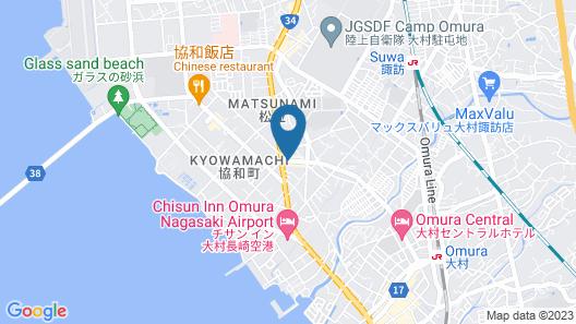 Omura Station Hotel Map