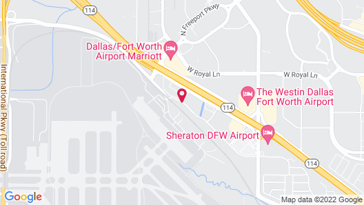 Hawthorn Suites by Wyndham DFW Airport North Map