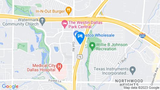 Hyatt Place Dallas/Park Central Map