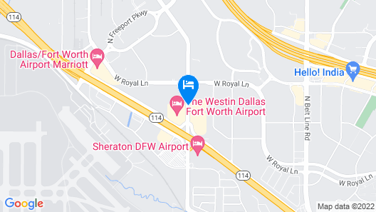 Red Roof Inn Dallas - DFW Airport North Map