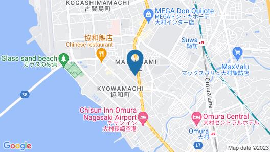Omura Station Hotel Nagasaki Airport Map