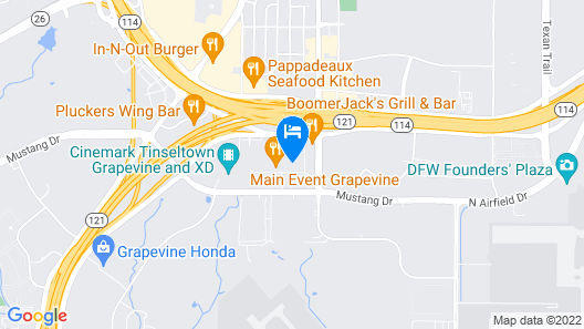 Holiday Inn Express & Suites DFW-Grapevine, an IHG Hotel Map