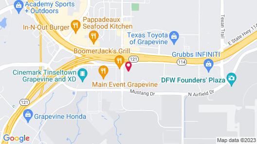 Super 8 by Wyndham Grapevine/DFW Airport Northwest Map