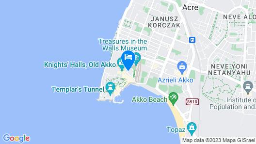 HI Akko Hostel Map