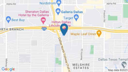 Hilton Dallas Lincoln Centre Map