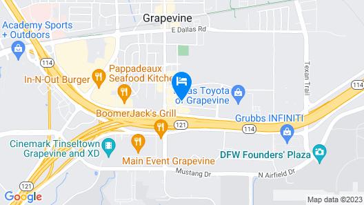 Comfort Inn Grapevine Near DFW Airport Map