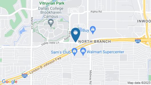 DoubleTree by Hilton Dallas Near the Galleria Map
