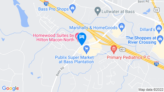 Homewood Suites by Hilton Macon-North Map