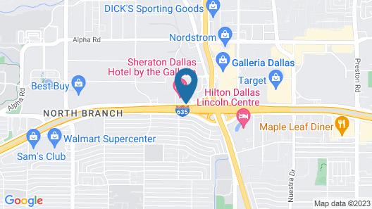 Sheraton Dallas Hotel by the Galleria Map