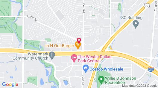 Sonesta Suites Dallas Park Central Map