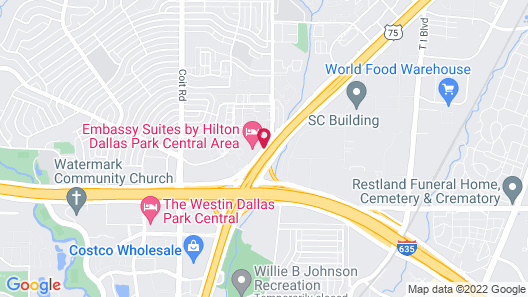 Comfort Suites North Dallas Map
