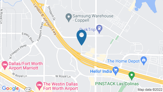Tru by Hilton Coppell DFW Airport North Map