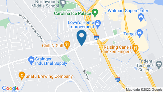 Motel 6 Charleston, SC - North Map