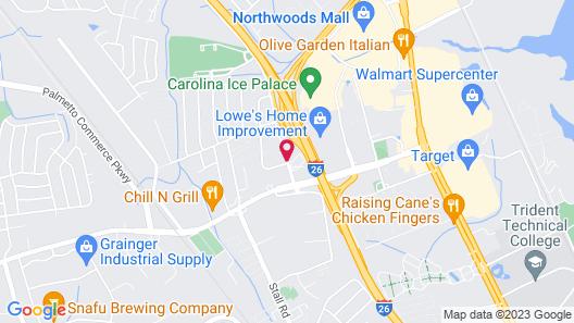 Hampton Inn Charleston North Map