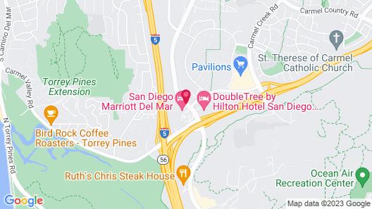 San Diego Marriott Del Mar Map