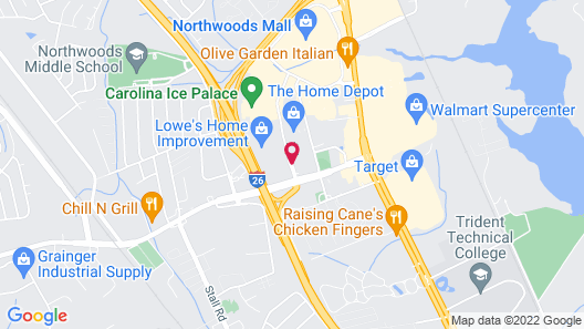 DoubleTree by Hilton Hotel and Suites Charleston Airport Map