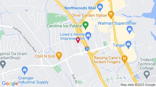 Residence Inn Charleston North/Ashley Phosphate Map