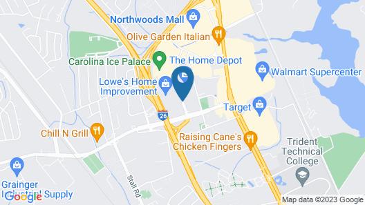 Homewood Suites by Hilton North Charleston Map