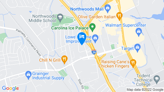 Courtyard by Marriott Charleston-North Charleston Map