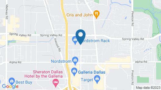 Sonesta Simply Suites Dallas Galleria Map