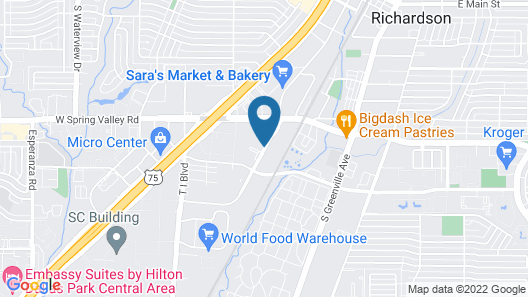 Courtyard by Marriott Dallas Richardson at Spring Valley Map