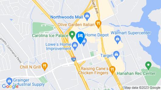 Extended Stay America - Charleston - Northwoods Blvd. Map