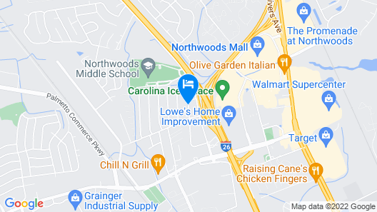 TownePlace Suites by Marriott Charleston-North Charleston Map