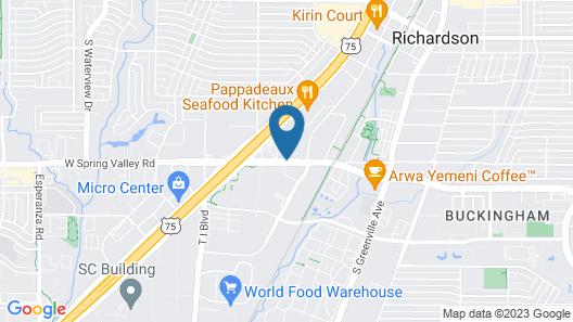 Super 8 by Wyndham Richardson Dallas Map