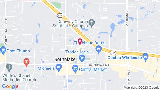 Hilton Dallas/Southlake Town Square Map
