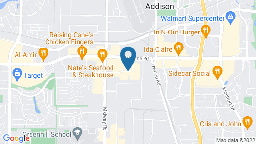 Hampton Inn Dallas- Addison Map