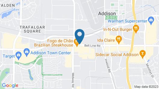 Motel 6 Addison, TX - Dallas Map