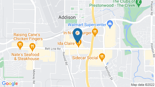 Courtyard by Marriott Dallas Addison/Quorum Drive Map