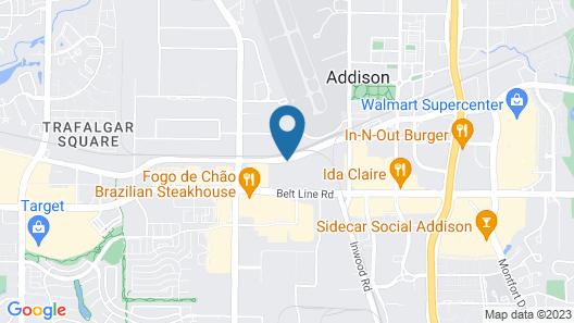 Quality Suites Addison - Dallas Map