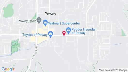 Best Western Poway/San Diego Hotel Map