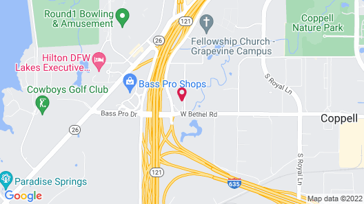Comfort Suites Dallas Fort Worth Near Grapevine Map
