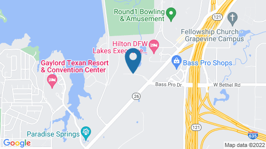 Courtyard by Marriott Dallas DFW Airport North/Grapevine Map