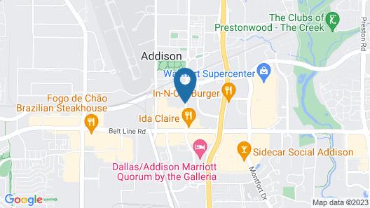 SpringHill Suites by Marriott Dallas Addison/Quorum Drive Map