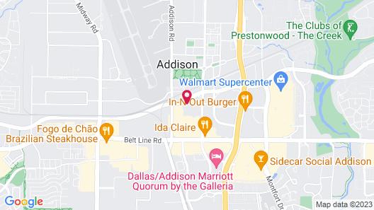 HYATT house Dallas/Addison Map