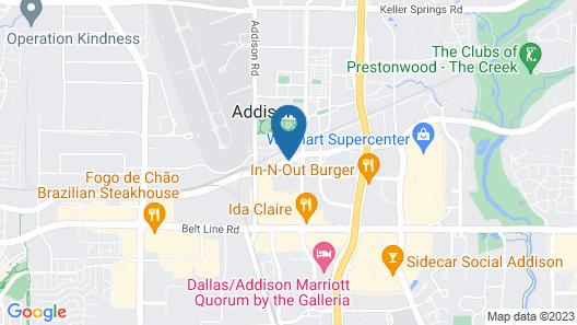 Radisson Hotel Dallas North - Addison Map
