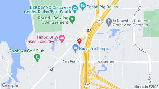 Residence Inn by Marriott DFW Airport North/Grapevine Map