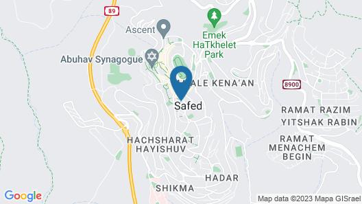 Azamra Inn Tzfat Map