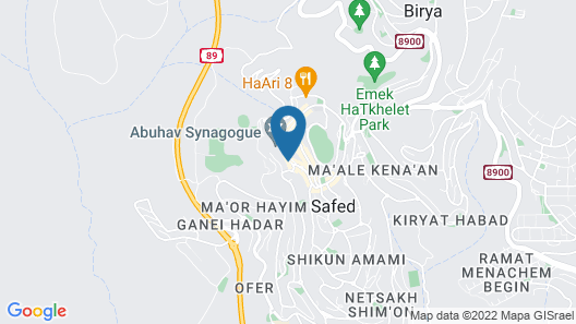 Vacation in the old city of Safed Map