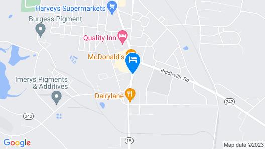 Villa South Motor Inn Map