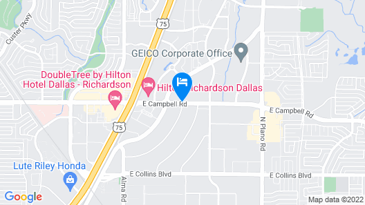 Extended Stay America - Dallas - Richardson Map