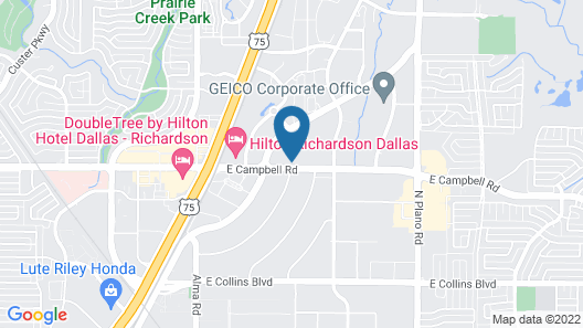 Extended Stay America Suites Dallas Richardson Map