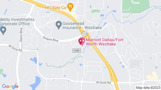 Marriott Dallas/Fort Worth Westlake Map