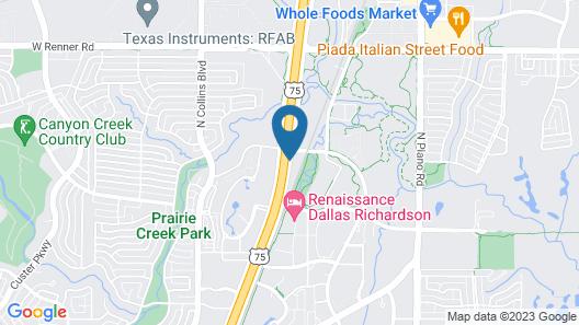 Econo Lodge Inn & Suites Richardson-Dallas Map